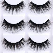 KE_ 5 Pairs Luxurious 3D False Eyelashes Cross Natural Long Makeup Eye Lashes