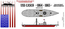 FLAGSHIP MODELS 1/192 scale USS Casco Union Ironclad (14.5 inches long)