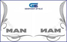 1 Paar MAN - LKW Seitenfenster Aufkleber - Sticker / Decal, H 32cm !<>!<>!