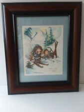 Framed Matted 1981 Jody Bergsma Numbered 2919/4500 Lithograph