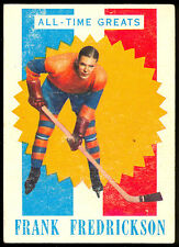 1960 61 TOPPS HOCKEY #34 FRANK FREDRICKSON EX COND ALL TIME GREATS VICTORIA