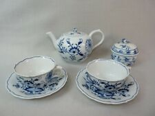 altes Zwiebelmuster-Kaffee-/Tee-Service für 2 Personen,Meissen 1924-34