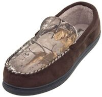 Northern Trail Mens Brown Camo Moccasin Slippers