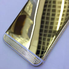 Luxury Golden diamonds Back Housing Door Middle Frame For iPhone 6 6s Plus New