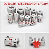 Motor Shaft Connector Coupler Spider Jaw Flexible Coupling D25L35 for Stepper