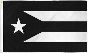 Resistance Flag of Puerto Rico 3x5 ft Black & White Protest Puerto Rican Boriqua