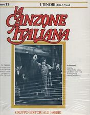 FERRUCCIO TAGLIAVINI BENIAMINO GIGLI La Canzone italiana 11 con FASCICOLO sealed