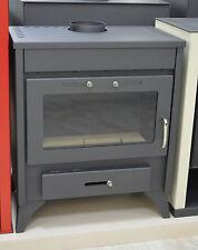 Wood Burnig Stove Integral Boiler Solid Fuel 13-21 kW Central Heating Fireplace