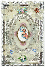 c.1850 Victorian Valentine Layered Card Lace And Cupid 8893