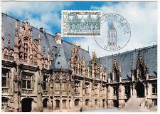 CARTE MAXIMUM FDC 1975 TIMBRE N° 1806 PALAIS DE JUSTICE DE ROUEN