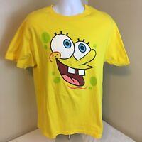 Vtg 2002 Nickelodeon Short Sleeve T- Shirt Large? Sponge Bob Double Sided FS!