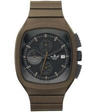 New Adidas Toronto Chronograph Brown Band Date Men Watch 45x40mm ADH2136 $95.00