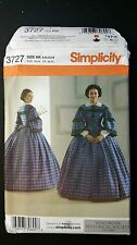Simplicity 3727 Museum Curator Deborah Woodbridge 2007 KK Uncut Civil War Dress