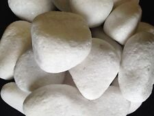 "SNOW WHITE PEBBLES, SIZE: 10-20MM ""50 Bags -10 KG Each"": 4 Sizes Available"