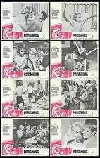 PARANOIA orig 1970 lobby card set CARROLL BAKER/LOU CASTEL 11x14 movie posters