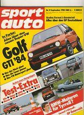 sport auto 09/83 83/09 9/83 @ Golf GTI total @ VW Polo GT @ Alfasud ti