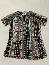Koi XS Black Pink White Red Mod Polka Dot Rio Scrub Top Uniform Shirt