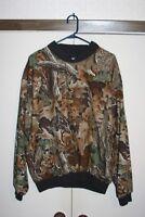 Wrangler Rugged Wear Advantage Woodland Camo VTG Pullover Jacket Men Large Hunt