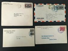 Postal History Costa Rica 4 Covers from the 1940s/50s 3 to Estados Unidos (USA)