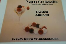 Anastasia Crochet Pattern:  Yarn Cocktails Toasted Almond Necklace Pom pom set