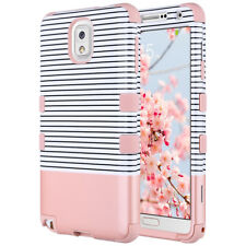 Shockproof Hybrid Rubber Hard Case Cover Samsung Galaxy Note 3 Minimal Rose Gold