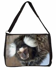 Marmoset Monkey Large Black Laptop Shoulder Bag School/College, AM-9SB