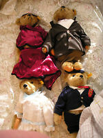 "STEIFF  TEDDY BEAR FAMILY - THE MARGARET STRONG MUSEUM - ""VICTORIAN FAMILY"""