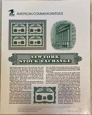 # 2630 29-Cent NY STOCK EXCHANGE 1992 COMMEMORATIVE PANEL