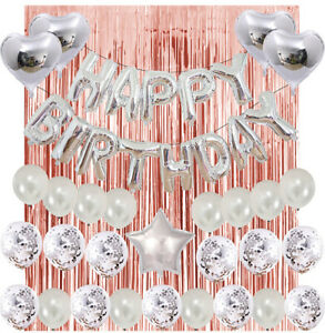 Happy Birthday Decorations Multiple Styles Banners Balloons Sets Party Supplies