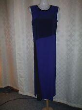 Sleeveless Maxi Dress XS REED Marine Blue Combo