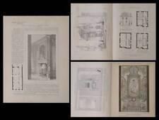 SAINT TROND, ENGHIEN, PRIMEL -1910- PLANCHES ARCHITECTURE- VITRAIL CHAMPIGNEULLE