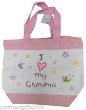 """I (heart) MY GRANDMA"" LARGE CANVAS TOTE by RUSS BERRIE"