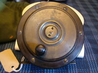 """Vintage Scottish, Perth Style, Wooden Sided Salmon Fly Fishing Reel. 4 1/4"""""""