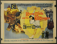 SNOW WHITE AND THE THREE STOOGES 1961 ORIGINAL 22X28 MOVIE POSTER CAROL HEISS