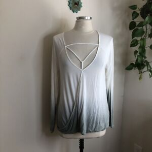 american eagle outfitters soft & sexy T v- neck ombre top medium