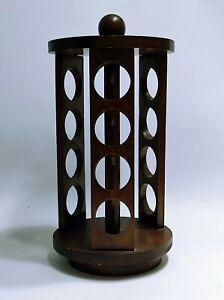 Portaspezie girevole Porta spezie in legno Anni 70 vintage 12 barattoli