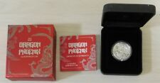 2017 Perth Mint - 1 oz Silver Dragon & Phoenix High Relief Proof Coin - Dmgd Box