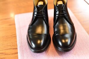 """Barker """"Orkney"""" english chukka boots in black calf leather size 6.5 F UK"""