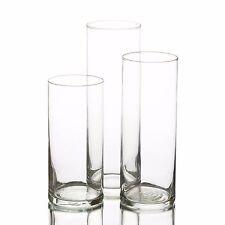 eastland glass cylinder vases set of 3 home wedding u0026 event decor centerpiece