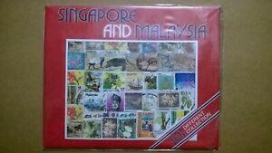 Busta 101 francobolli differenti Singapore e Malaysia