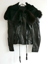 Yves Saint Laurent x Tom Ford AW04 Leather & Fur BikerJacket New FR36/UK8