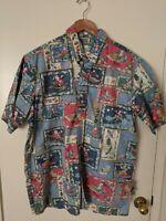 Reyn Spooner Mele Kalikimaka Christmas Shirt Mens XL Santa Sleigh Hawaiian 2003
