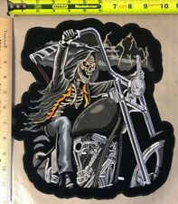 Motorcycle Back Patch Grim Reaper on Motorcycle