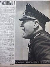 ARTICOLO - MUSSOLINI - VINCEREMO !   -- 1940