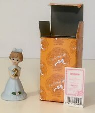 Growing Up Birthday Girls Figurine-Age 2-Brunette Mint In Original Box E9526