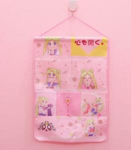 sailor moon pink Hanging Organizers Wall Storage Bag Pocket gift fashion gift