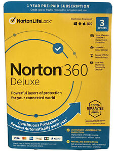 Norton Internet Security with Antivirus Deluxe 3 Device US & CANADA KeyCode 2021