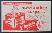BUVARD SAVON LE CHAT Catox Il mousse ! soap cat Katze Blotter