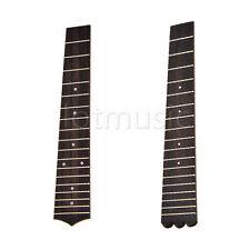 2 Pcs Ukulele Fretboard Fingerboard W/18 Frets For Concert Ukulele 23 Inches