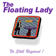 Magician's Floating Lady On Image (Photo) Lady Float From Table Magic Trick